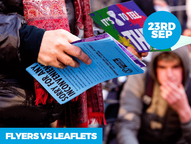 Flyers VS Leaflets